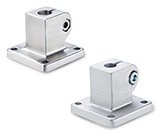 Base plate connector clamps, Aluminium / Stainless Steel, with 4 mounting holes