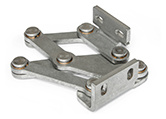 Stainless Steel-Multiple-joint hinges, concealed, opening angle 90°