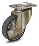 Castors with bracket for medium-heavy loads, ESD cast polyurethane coating