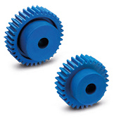 Spur Gears, Visually Detectable technopolymer, pressure angle 20°