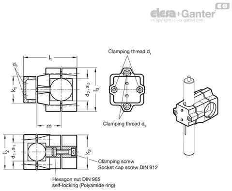 gn 135 1 linear actuator connectors aluminium multi part rh elesa ganter be