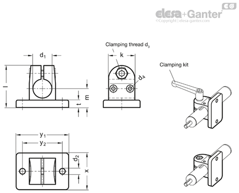 GN 145 1-NI - Stainless Steel, for linear actuators Ø18